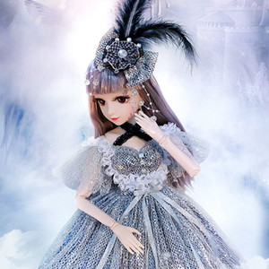 60cm Fashion Girl Dolls Großes ursprüngliche handgemachtes 03.01 Puppe voller Satz 18 Jointed Puppe-Mädchen-Spielzeug für Kinder Kinder Geschenk Y191211