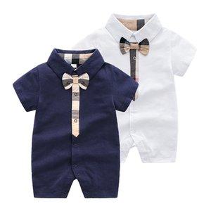 Le plus récent Plaid bébé Designer de luxe Combinaisons Sac G Imprimé vêtements nouveau-nés tout-petits Mode Barboteuses Enfants À Manches Longues Barboteuses