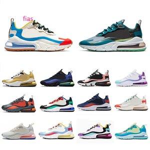 Sea Green react Mens Athletic running shoes Script Cream Blue Bleached Coral Bauhaus Dusk Purple Hyper Jade unisex sports sneakers 36-45