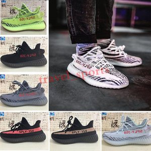 Men Women Shoes Kanye West Runner Running Sneakers White Cloud Hyperspace Glow Zebra Reflective Static Basketball Trainers US13 TS04