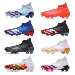 كرة القدم المرابط الجديد شباب جديد بيج بويز الرجال المفترسة Mutator 20 أحذية FG كرة القدم الأساسية أسود أبيض أحمر مصمم أحدث أحذية كرة القدم