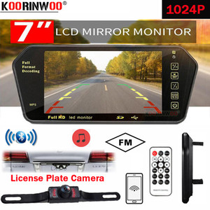 Koorinwoo For Sony AHD License 7 Inch bluetooth TFT Lcd Color Mirror Monitor Viedo MP5 Player Remote Control Car Rearview Camera