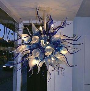 Lampes de haute qualité Beaux Landeliers en cristal LED Fleur Italien Style de style Art Décoration à la main Lustre en verre soufflé à la main Éclairage