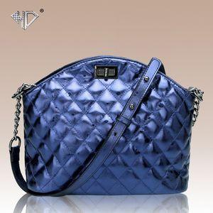 Pop2019 Donna in vera pelle Diamond Lattice Shell Ma'am Trend Single Shoulder Diagonal Package