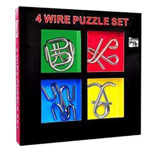4 Stücke Metalldraht Puzzle IQ Mind Brain Teaser Puzzle Spiel Intelligenz Schnalle Ultimative Ring Pädagogisches Spielzeug Farbe Geschenkbox Für Kind