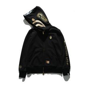 Fashion Luxury Designer Con Cappuccio Camouflage Stampa Skateboard Harajuku Streetwear men e Donne Hip hop Shark Con Cappuccio Spedizione Gratuita