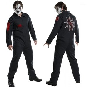 Hiphop Mens Jumpsuits Theme Costume Male Apparel SlipKnot Printed Mens Cosplay Costume Halloween