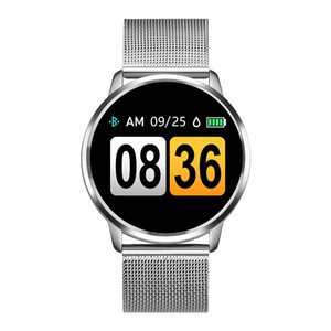 Q8 Smart Watch OLED-Farbbildschirm Smartwatch Frauen Mode Fitness Tracker Pulsmesser