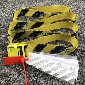 130 bis 200 cm Neue Design-Gürtel Qualitätssegeltuch Herren Gürtel gelb schwarz weiß Gürtel Mann Frauen Marke Bund