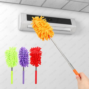 Chenille Dusters Scalable Microfiber Telescopic Cleaning Brush Chenille Soft Desktop Household Cars Cleaning Tool 6 color Free shipping