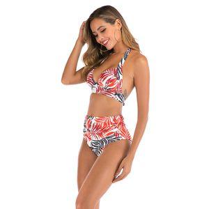 Bikinis 2020 Bra Striped Tracksuit Woman Swimsuit 3 1Pcss Padded Bathing Suit Beachwear Swimwear Sport Swimsuit For Women#865