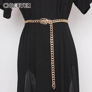 CHICEVER coreana cadeia de metal das mulheres Belt oco as roupas ajustáveis Acessórios Cintos Femininas 2020 Spring Summer Moda T200427