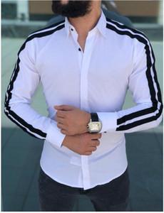 Frühling 2020 Mens Dress Shirts Herbst Sommer Hombres Designer-Hemd