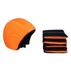 3pcs set Buoyancy Material Arm Ring For Beginners Solid Unisex Swimming Pool Floating Helmet Elastic Cap Gift Safe Outdoor