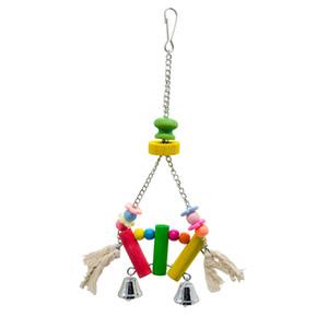 Pássaro produtos Papagaio Macaw bloco de madeira Beads pequeno Toy Sinos