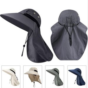 Para mujer para hombre de pesca Wide Brim Sun Protection ajustable sombrero al aire libre del montar a caballo de la selva Cap recorrido de la trampilla de cubo sombreros Escalada Caps de senderismo