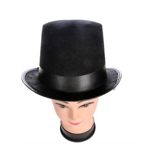 Top hat jazz hat Halloween manufacturers props 78g (large) high 16CM for Magic Cosplay Dropshipping Other Event Party Supplies