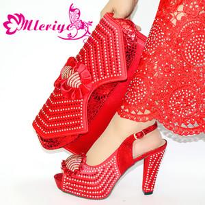 Os mais recentes elegante italiano Bombas 11.3CM sapatos e bolsa Set 2020 Verão Sandals Senhoras sapatos e bolsa Set Evening Party For Tamanho 38-43
