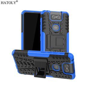 Asus Zenfone 6 ZS630KL Vaka Karşıtı vurmak Ağır Hizmet Zırh Standı Kapak Zenfone 6 İçin Cep Telefonu Aksesuarları Cep Telefonu Kılıfları Kapaklar