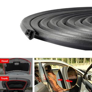 5M L Shape Car Door Seal Strip Density Styling Moulding Hood Trunk Universal Rubber Strips Weatherstrip Trim Edge