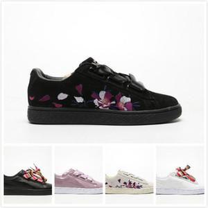Womens Clyde Graphic TYAKASHA scarpe da skate autunno progettista nero bianco di modo delle ragazze di Bowtie adulte della pelle scamosciata delle scarpe da ginnastica Walking Zapatillas