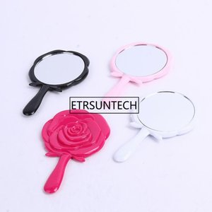 Vintage Roses Women Pocket Mirror Chic Retro Makeup Mirrors Portable Cosmetic Compact Flower Mirror F1637