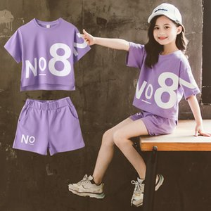 Girl's Set Children T-shirt and Pants Short Sleeve 2pcs Set for 3t-12t Hot Sale Kids Summer Fashion Casual Suits