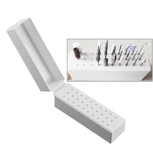 Tools Electric Manicure 30 Holes Nail Art Drill Grinding Head Bit Holder Display Storage Box Nail Drill Bits Container Stand