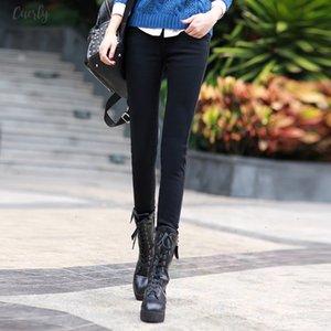 Velvet Plus Thicker Women Jeans Warm High Waist Trousers Cowboy Pants Stretch Denim Applique Jeans Pants Winter Pencil Jeans C1495