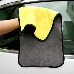 30*60 Car Towel Microfiber Dishcloth Clean Your Motorcycle Vehicle Rearview Mirror Glass Maintain Automobile Use Car Towel 5pcs