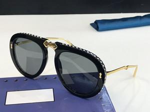 Lujo 0307 gafas de sol para hombres y mujeres diseñador plegable de estilo de verano rectángulo de cuadro completo de calidad superior protección UV vienen con estuche