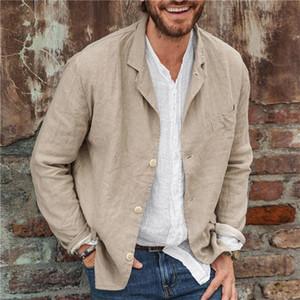 Casual Mens Suit Coat Sping Fall Loose Long Sleeve Suit Blazer Jacket Lapel Neck Mens Designer Suit Coats