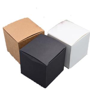 20pcs Weiß Schwarz Kraft Papier Karton Hochzeit Geschenk-Verpackungs-Box Platz Kleiner Süßigkeit-Kasten-Partei-Bevorzugungen Soap Boxes