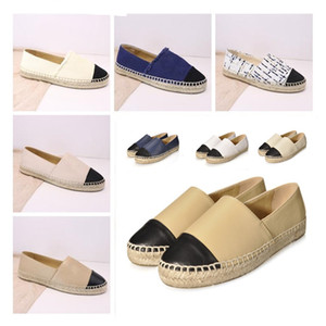 Factory Direct Sale Espadrilles Women Designer Casual Shoes Fashion Real Genuine Leather Loafers Slip-On Platform Shoes With Box Size 34--42