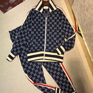 2018Fashion designer sportswear dos homens letra terno de impressão dos homens terno sportswear terno dos homens jaqueta jaqueta casual camisola