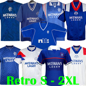 87 90 92 94 96 97 99 01 jerseys de fútbol Glasgow Rangers retro azul blanco ausente GASCOIGNE LAUDRUP Fútbol de McCoist equipos de fútbol Uniformes