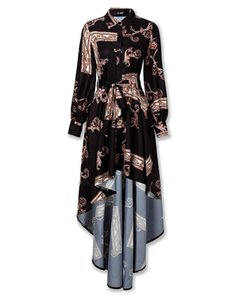 Women Long Sleeve Dress Boho Floral Baggy Casual Maxi Dress Sundress Party Dress Size S-XXL