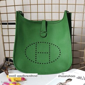 handbag shoulder bag metal hardware large capacity leather and canvas fashion printing Evelyne A11 11 andEvelyneA