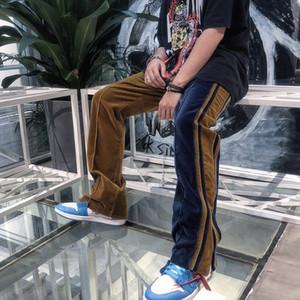 Hip Hop Mens Velvet Pants Designer Streetwear Ankle Zipper Mens Sweatpants Spring Autumn Casual Homme Long Pants