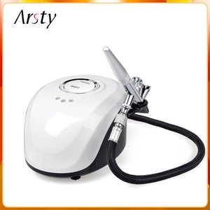 Arsty Airbrush Compressor Kit Airbrush Only Portable Tattoo 3 Speeds used for Nail Art, Make UP, and Cake Painting