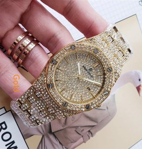 Wholesale Couple Womens Mens Luxury Watch Big Chronograph Diamond Bezel Iced Out Designer Watches Unisex Quartz Movement Wristwatches