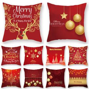 عيد الميلاد غطاء وسادة ميلاد سعيد عيد الميلاد سانتا كلوز الأيل وسادة القضية الخوخ الجلد أريكة كيس المخدة وسادة هدية عيد الميلاد ديكور المنزل