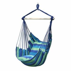New thick canvas Hanging Chair Tessuto in cotone Outdoor Yard Indoor Tree Hammock Chair Splicing Colore Corda Hanging Rope Chair