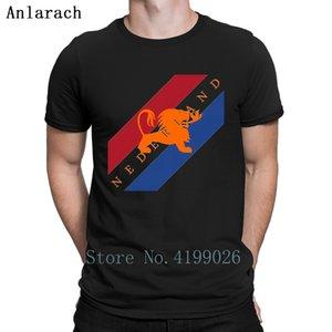 Niederlande Malerei T-Shirt Street T Tops Designing Kurzarm T-Shirt für Männer Natürliche Anti-Falten-Frühling