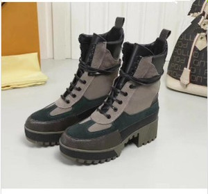 Louis Vuitton   Mode Stiefel für Frauen Höhe Zunehmende Frauen Schuhe Freizeit Leder Stiefeletten Martin Stiefel Laureate Platform Desert Boot Vintage Style