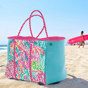 2019 DIY неопрена женщин пляж мешок моды трапеция Tote сумки роскошные сумки женские партии сумки дизайнер