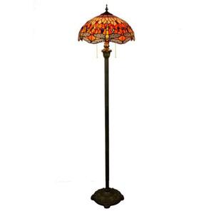 Tiffany libélula lámpara europea Stained Glass Floor Lamp Hotel Sala mano soldada arte Lámpara de pie