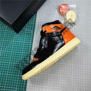 Kutusu ile 2019 Release 1 OG Yüksek Arkalık 3.0 Erkek Basketbol Ayakkabı Siyah Soluk Vanilya Denizyıldızı Atletik Spor ayakkabılar Boyut 40-46 Shattered