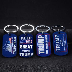 Все на борту ювелирного N4F Trump Поезд брелок Donald Trump 2020 Президент Keychains из нержавеющей стали Keyrings Simple Key Ring Женщины Мужчины