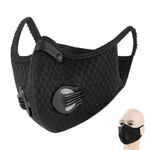 Cycling half Face Mask With Filter Breathing Valve Activated Carbon PM 2.5 Anti-Pollution Men Women Bicycle Sport Bike Dust Mask